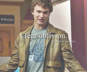 fear, Oblivion, and the fault in our stars image