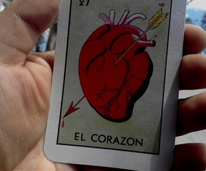 corazon, heart, and loteria image