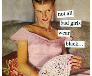 black, bad girls, and pink image
