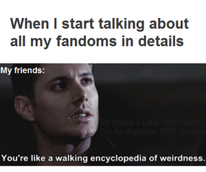 fandom, supernatural, and dean winchester image
