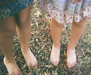 autumn, feet, and dress image