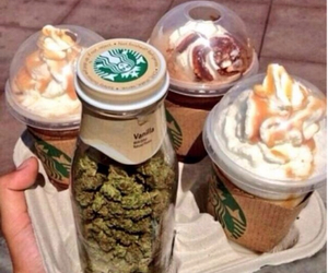 420, starbucks, and weed image