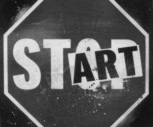 start, stop, and art image