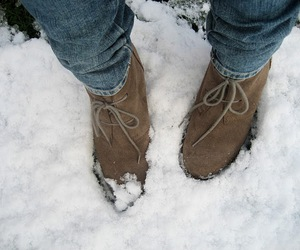 shoes, snow, and winter image