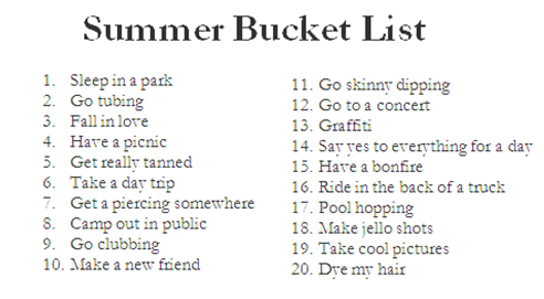 graphic about Tumblr Bucket Lists titled Summertime by means of Tumblr upon We Centre It