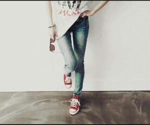 beutiful, jeans, and converse image