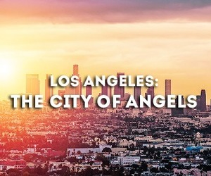 los angeles, city, and angel image