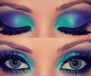 blue, makeup, and fade image
