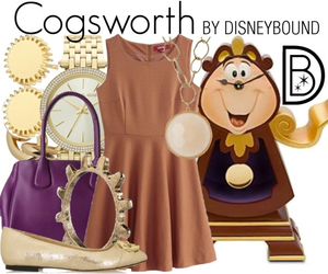 beauty and the beast, cogsworth, and disney image