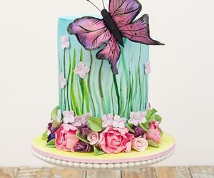 butterfly, yummy, and cake image