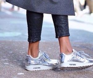 nike, fashion, and silver image