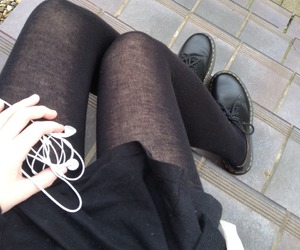 black, grunge, and legs image