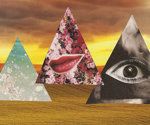art, Collage, and hipster image