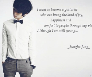 korea, quote, and sunghajung image