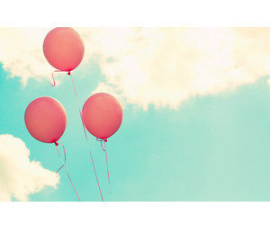 sky, balloons, and pink image