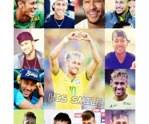 neymar, smile, and brasil image