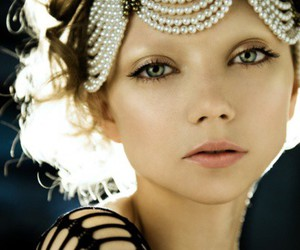 pearls, model, and makeup image
