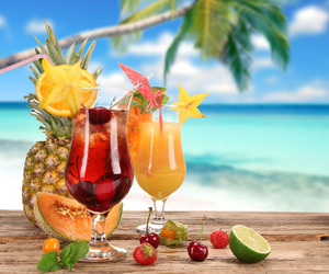beach, cocktail, and sea image