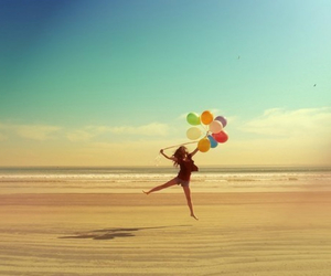 baloon, relax, and beach image