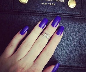 nails, blue, and marc jacobs image