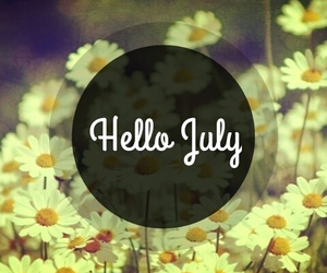 july, flowers, and hello image