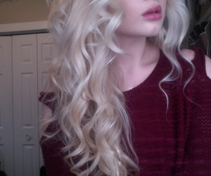 hair, pale, and blonde image