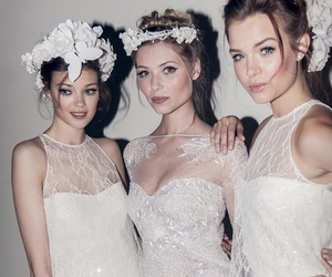 models, white, and dress image