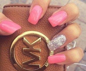nails, pink, and mk image