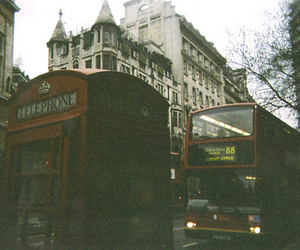 london, vintage, and bus image