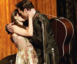 couple, kiss, and walk the line image