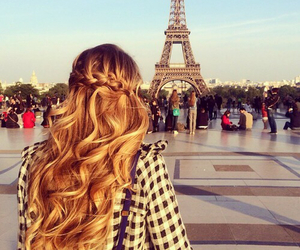 paris, hair, and blonde image