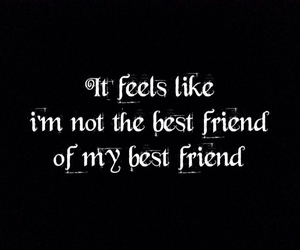 best friend, sad, and words image