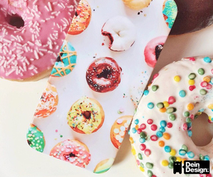 candy, case, and donut image