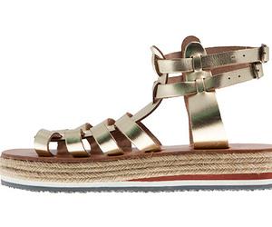 greek, metallic, and sandals image