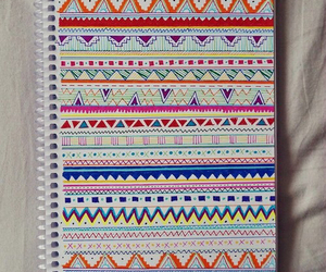 notebook, aztec, and art image
