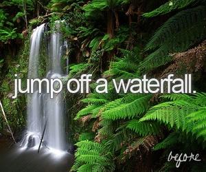 waterfall, beauty, and nature image