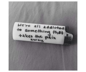 quote, sad, and smoking image