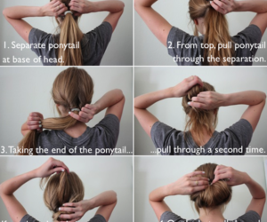 diy, hair, and hair tutorial image