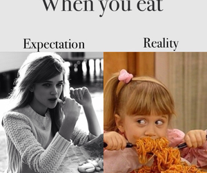 girl, eat, and expectation image