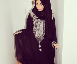 dress, girl, and moroccan image