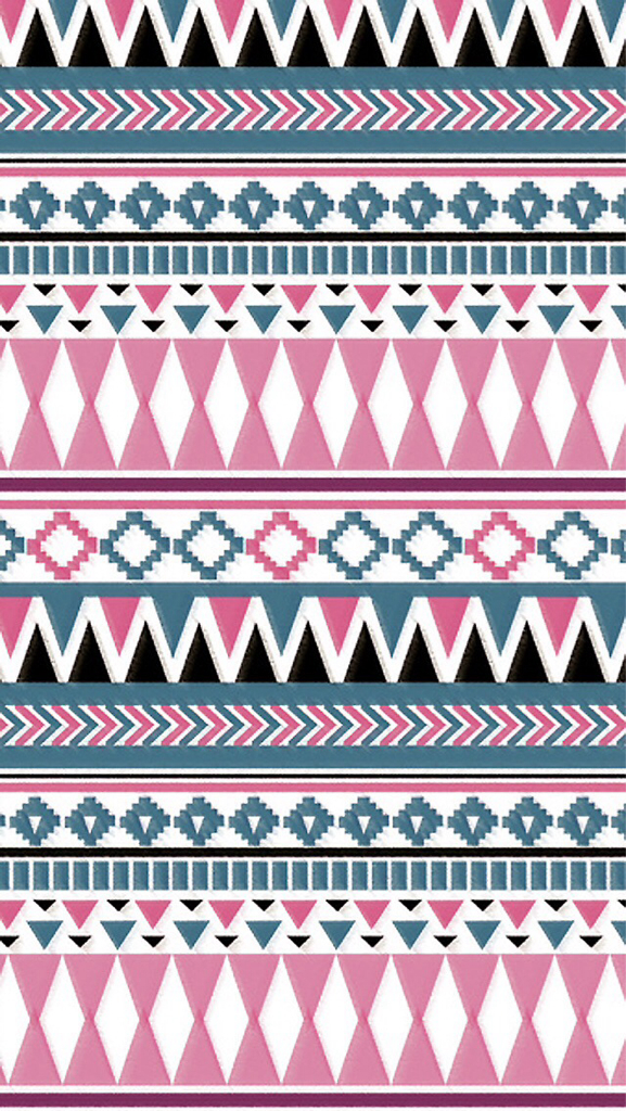 Aztectribal Background Pink Blue Uploaded By Valerie