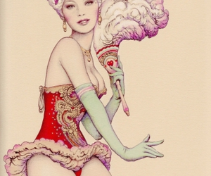 art, illustration, and burlesque image
