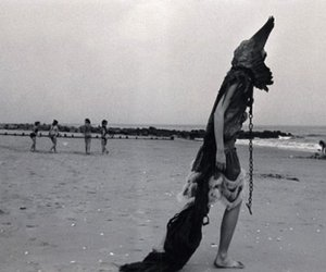 beach, black, and funny image