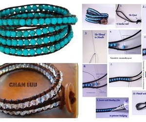 beads, bracelet, and tutorial image