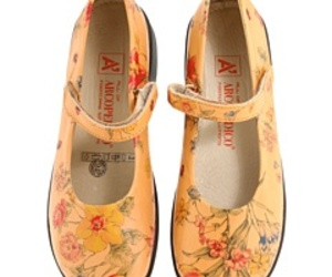 floral pattern, shoes, and yellow image