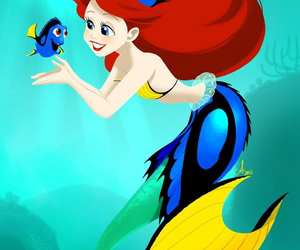 disney, ariel, and dory image
