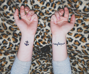 anchor, tattoo, and wrist tattoo image