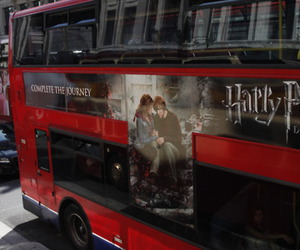 bus, deathly hallows, and harry potter image