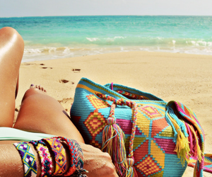 beach, summer, and bag image