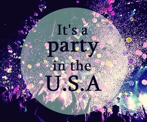 miley cyrus and party in the usa image